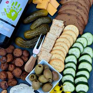 Vegan Charcuterie Board with KRIS Pinot Grigio