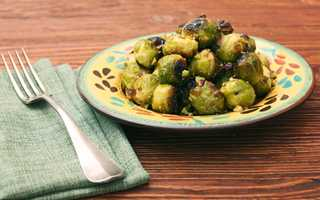 Roasted Brussels sprouts on a plate